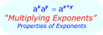 Math - Multiplying exponents - exponent Rules