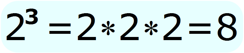 exponent - 2 raised to the 3rd power - Math