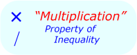 Math Properties - Math Inequalities - Multiplication & Division
