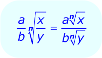 Math - Radical Expression - division property