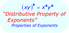 Distributive Property of Exponents - Math