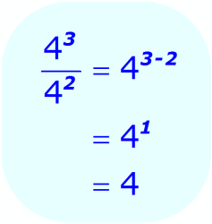 Exponent Division - example when the base is a number, and exponents are integers - Math