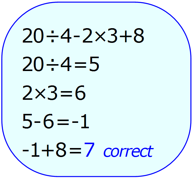 Math Calculator - Basic Calculator - Calculator Input - Correct - PEMDAS - Example 4