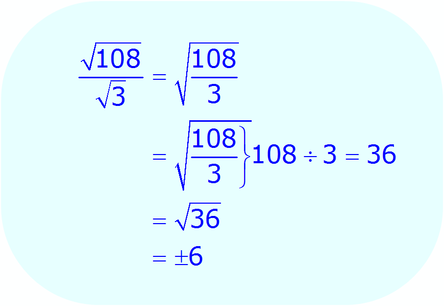 Math - Simplify Radical Expression using division property - example 1