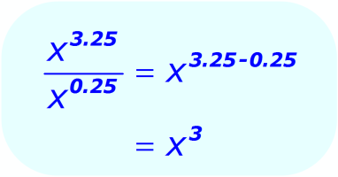 Exponent Division - when the base is a variable, and the exponents are positive decimals - Math
