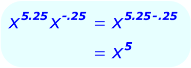 Exponent Multiplication - when the base is a variable, and the exponents are positive and negative decimals - Math