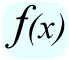 Math - Symbol for Function of x