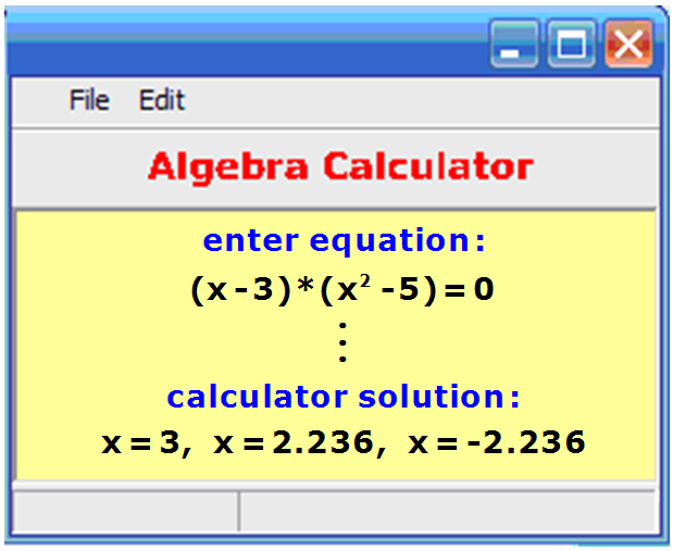 Algebra help calculator