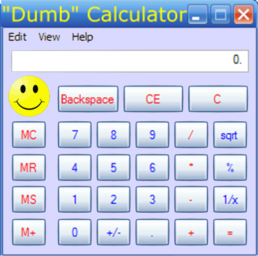 Math Calculator - Basic Calculator - Dumb Calculator - Picture
