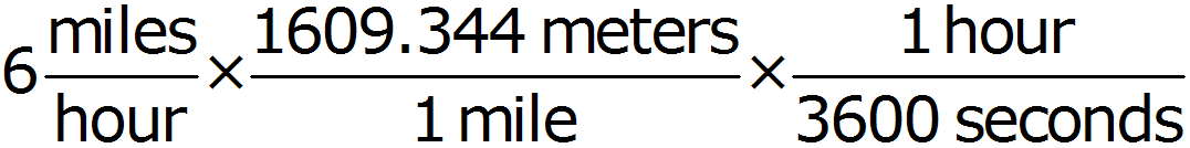 Math - Convert to Meters per Second