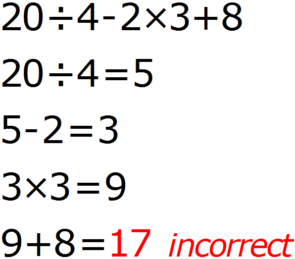 Math Calculator - Basic Calculator - Calculator Input - Incorrect - Example 4