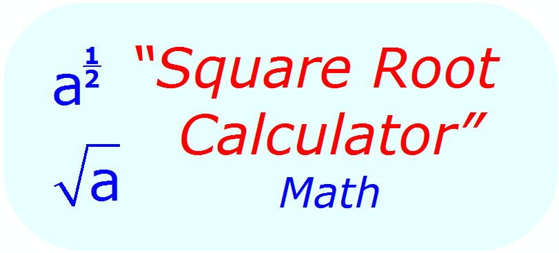 Square Root Calculator - Math