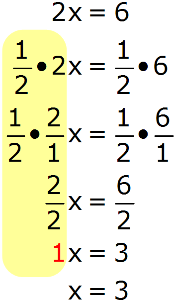 Math - Multiplicatiave Inverse Operation - Solve for X