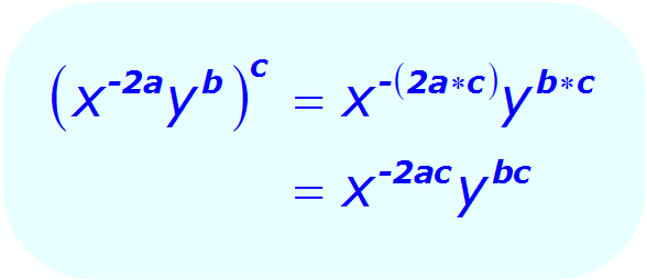Exponents: Distributive Property - example - when each base is a variable, and exponents are algebraic expressions - Math