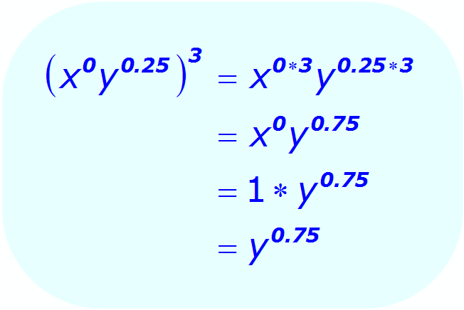 Exponents: Distributive Property - example - using a 0 (zero) exponent - Math
