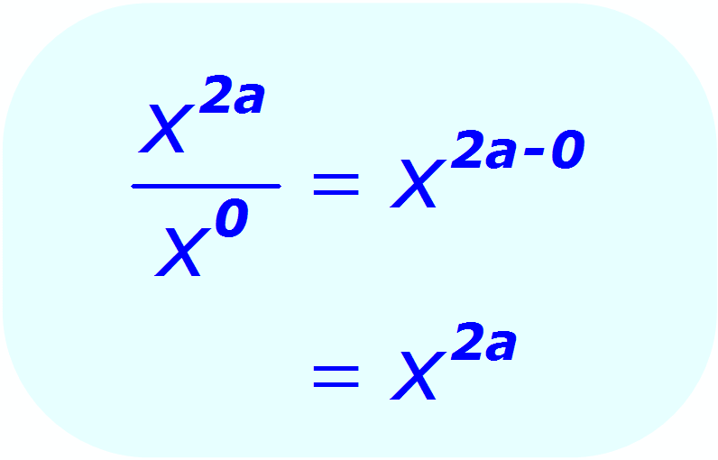 Exponent Division - using a 0 (zero) exponent - Math