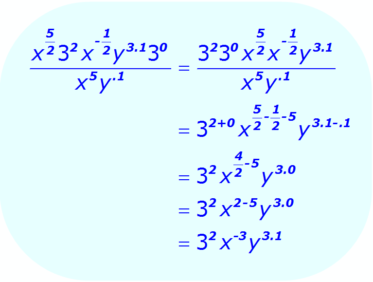 Exponent Division - using a combination of bases and exponents - Math