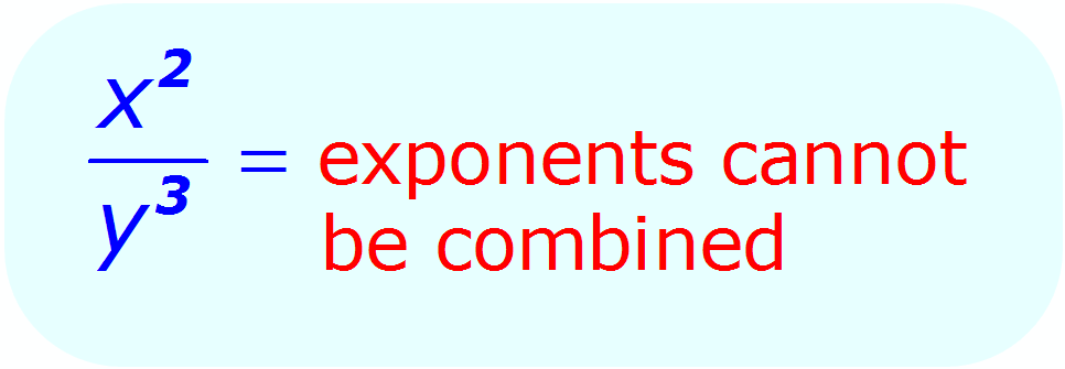 Exponent Division - when each base is different - Math