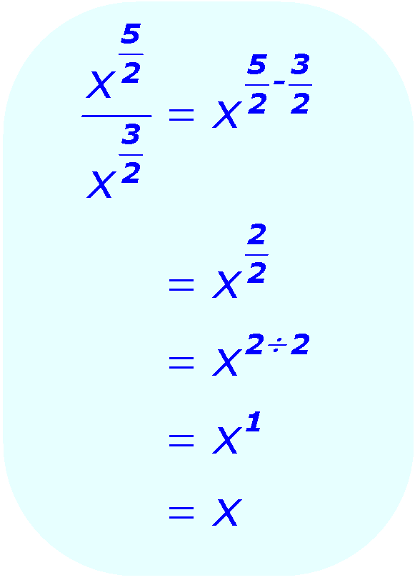 Exponent Division - when the base is a variable, and the exponents are positive fractions - Math