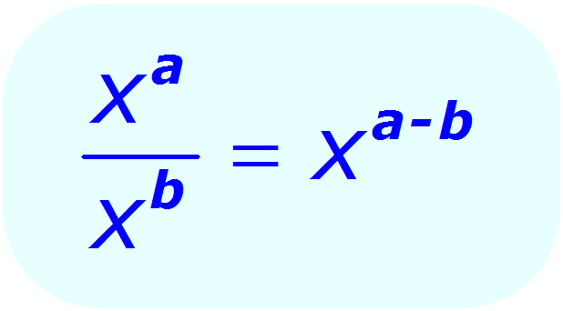Exponent Division - General Rule - Math
