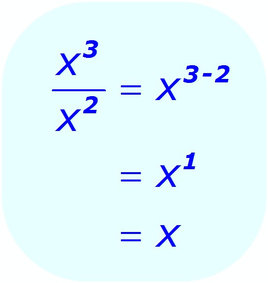 Exponent Division - example when the base is a variable, and the exponents are integers - Math