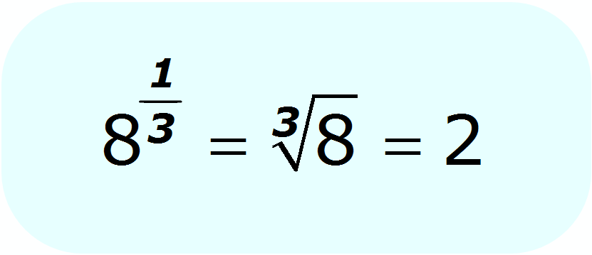 radical - fractional exponent - cube root of 8 - Math