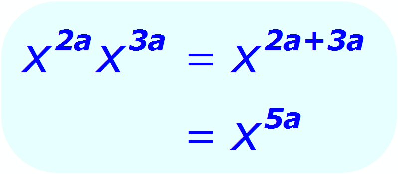 Exponent Multiplication - when the base is a variable, and the exponents are algebraic expressions - Math
