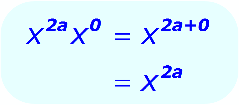 Exponent Multiplication - using a 0 (zero) exponent - Math