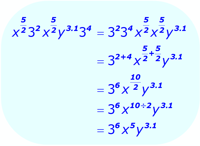 Exponent Multiplication - using a combination of bases and exponents - Math