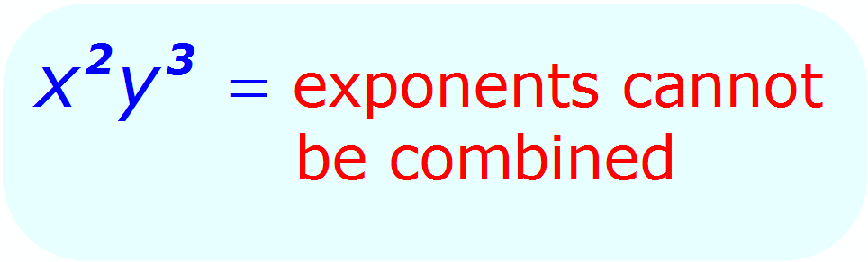 Exponent Multiplication - when each base is different - Math