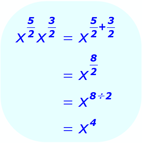 Exponent Multiplication - when the base is a variable, and the exponents are positive fractions - Math