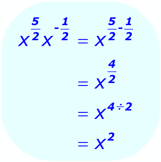 Exponent Multiplication - when the base is a variable, and the exponents are positive and negative fractions - Math