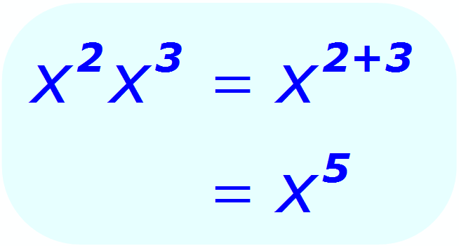 Exponent Multiplication - example when the base is a variable, and the exponents are integers - Math