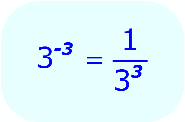 Negative Exponents: - example - when each base is a number, and the exponent is an integer - Math