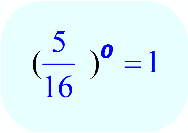 Zero Exponents: - example 3 - Math