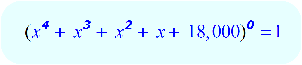 Zero Exponents: - example 6 - Math