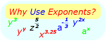 Math - Why Use exponents?