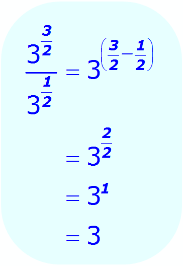 Math - Fractional Exponent - Division - example 6