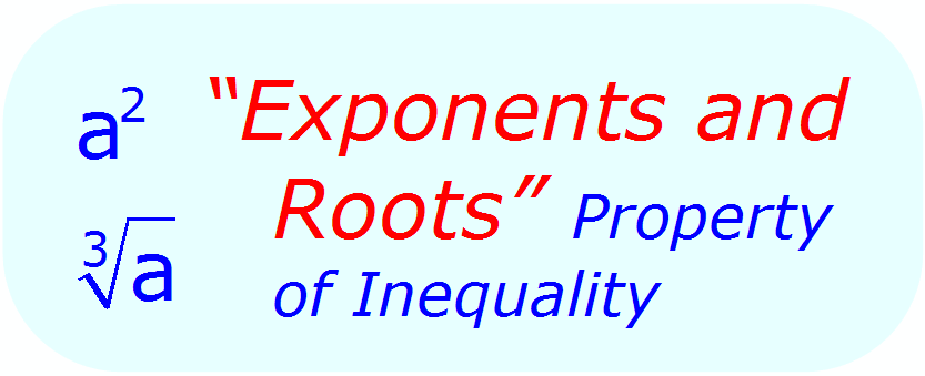 Math Properties - Math Inequalities - Exponents & Roots