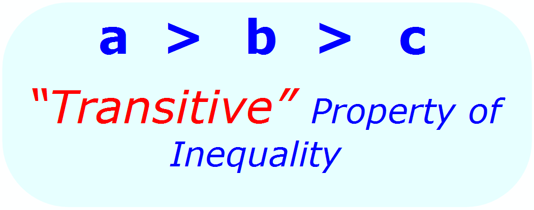 Math Properties - Math Inequalities - Transitive