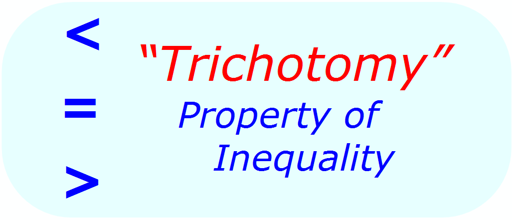 Math Properties - Math Inequalities - Trichotomy