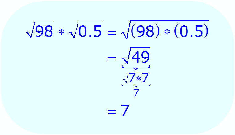 Math - Simplify Radical Expression using multiplication property - example 2