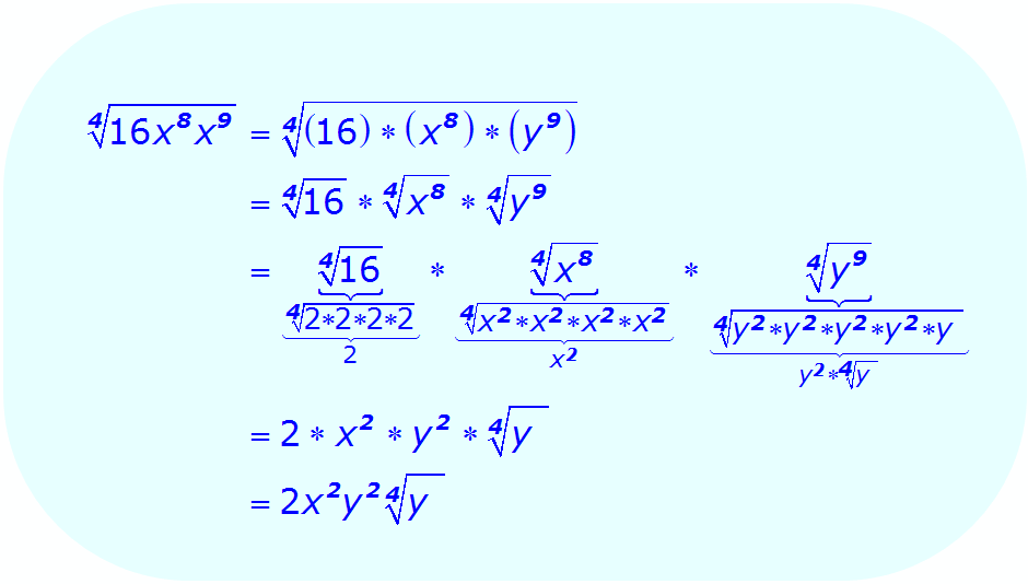 Math - Simplify Radical Expression using multiplication property - example 4
