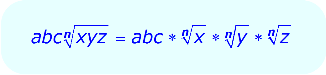 Math - Radical Expression - multiplication property