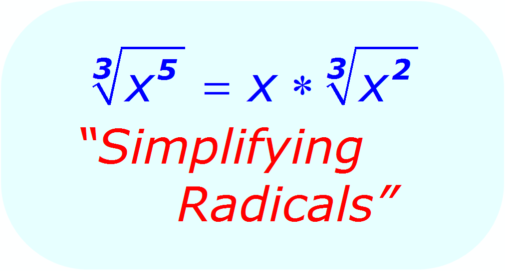 Math - Simplifying Radicals