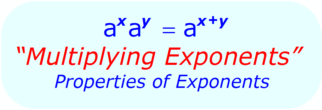 Multiplying Exponents - Exponent Rules