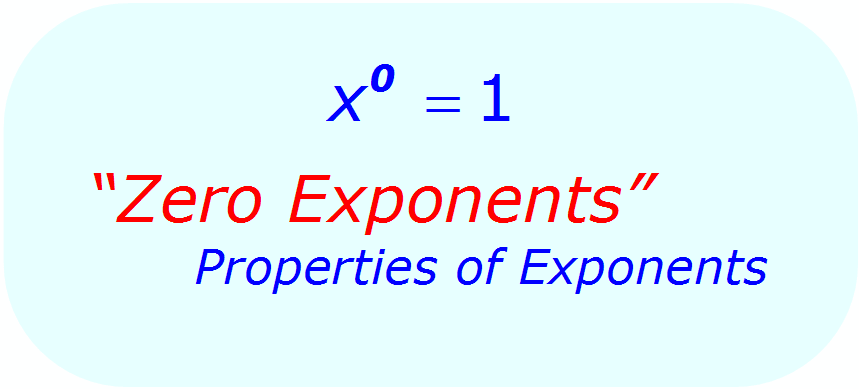 Zero Exponents - Exponent Rules