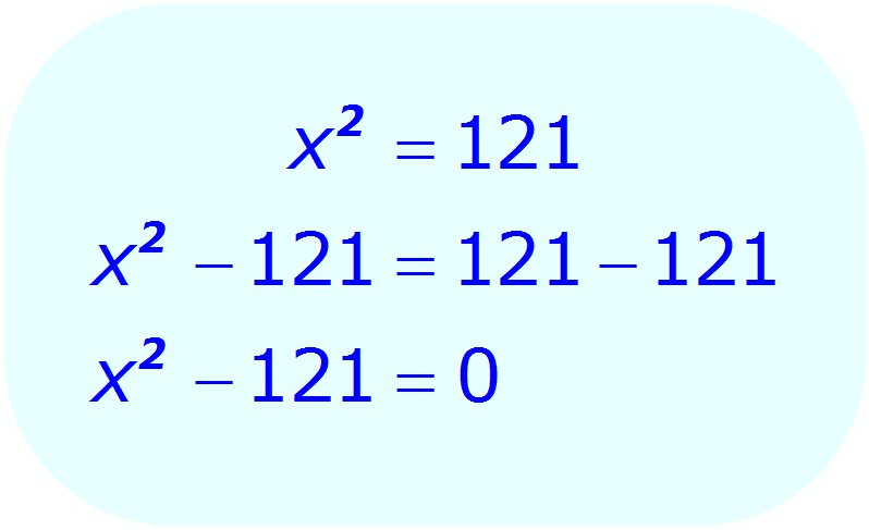 Math - Factoring the Square Root Equation - example 2 - Re-write the equation shown in step 1 in standard quadratic form - Step 2