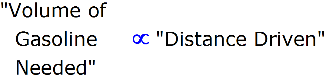 directly proportional symbol in word