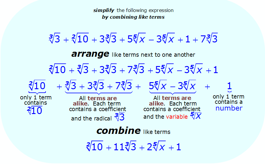 Math - Simplify Radical Expression using addition and subtraction